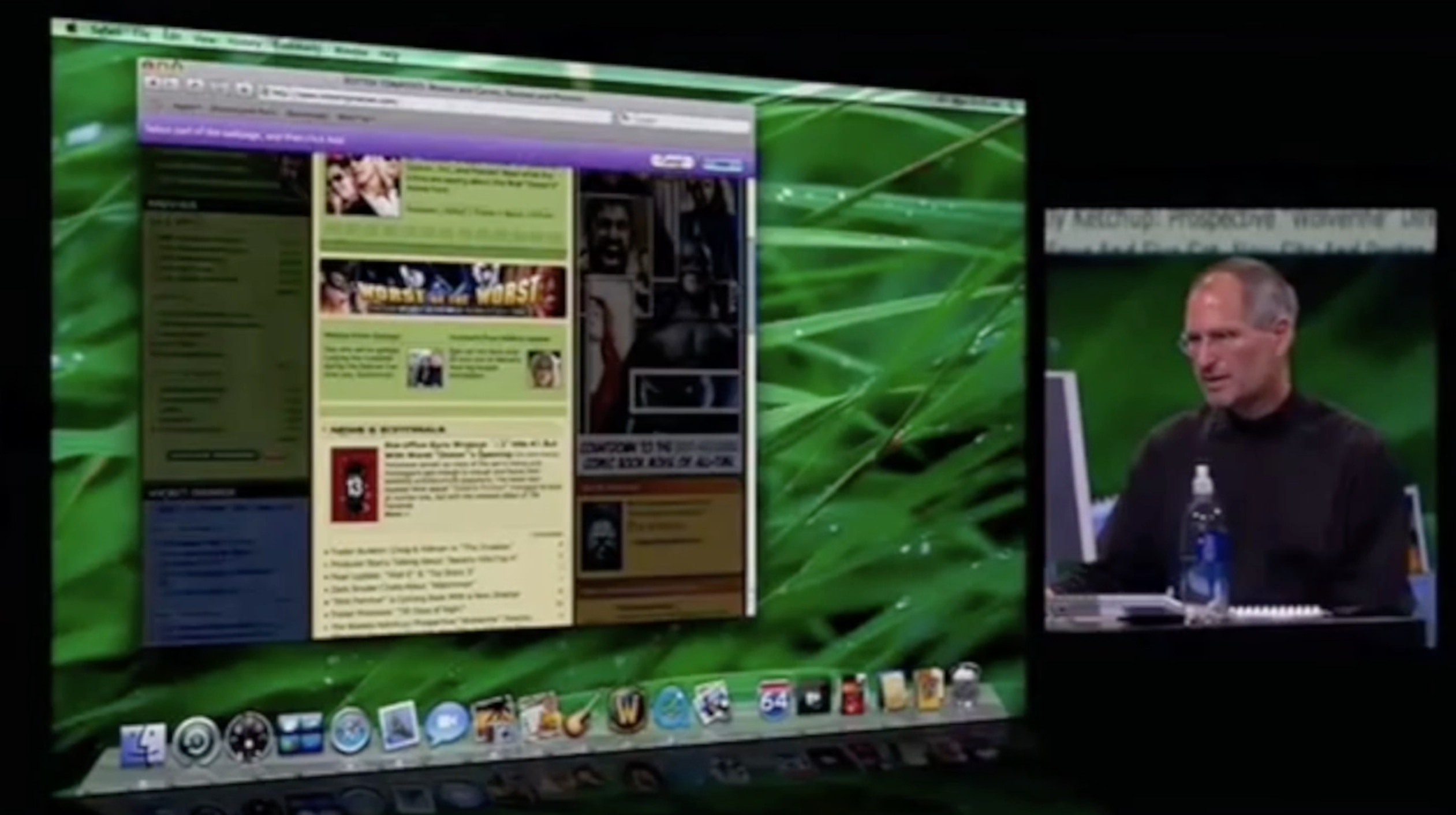 Three times that Steve Jobs demo'd Apple products on-stage with Rotten Tomatoes